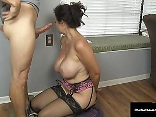 Busty Married Milf Charlee Chase takes Hubby's boss' hard throbbing cock into her warm mommy mouth to milk his cock in lieu of payment owed! Full Video & Charlee Chase Live @ CharleeChaseLive.com!
