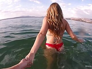 My FAVORITE Amateur Porno - Molly Pills Hot Young Freshman Slut Public Beach Sexy Creampie