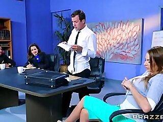julez ventura gets fucked from boss on office table