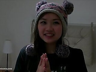 Asian teen Harriet Sugarcookie's 1st DP video