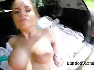 Teen beauty with big tits fucking pov