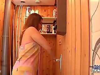 OLD YOUNG PORN Teen Fucked in the sauna room gives a blowjob sucks old cock