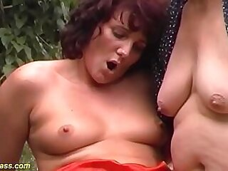 extreme wild german outdoor family therapy threesome anal fuck orgy with our ugly fat grandma