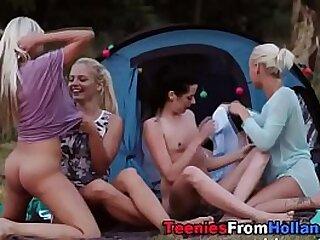 Teenie lesbo group lickin