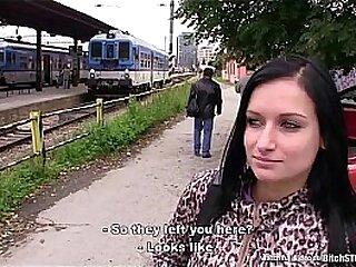 Bitch STOP - Busty teen Nikola fucked outdoor