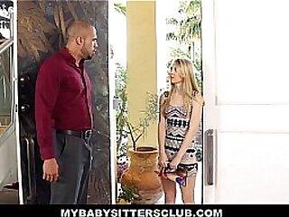 My b. Sitters Club - Petite Blonde b.sitter (Lily Rader) Fucks Boss To Keep Her Job