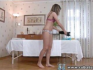 RubATeen Sexy Russian Jessy massage banged facialized