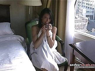 Small French Girl touching oily in window