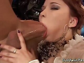 her first extreme anal lesson