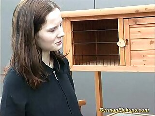 cute german teen picked up for anal