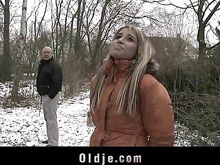 Old man fucking exquisite blonde teen