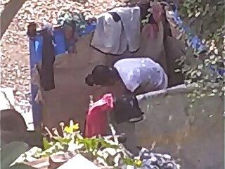 Village teen outdoor bath part 2